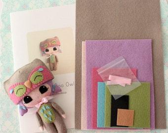 Peek-a-Boo Owl Pattern Kit