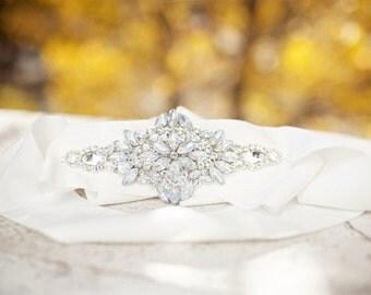 Wedding Bridal Dress Sash Jeweled Embellished Crystal Belt Grey ribbon