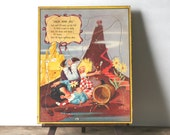 Circa 1950s Jack And Jill Walzer Puzzle Litho Bill Layne