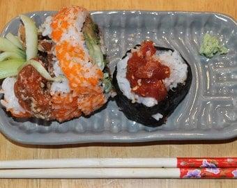 Take out sushi ceramic tray