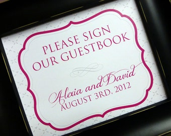 PRINTABLE Guest Book Sign - Style S17 - OCTAVIA  COLLECTION