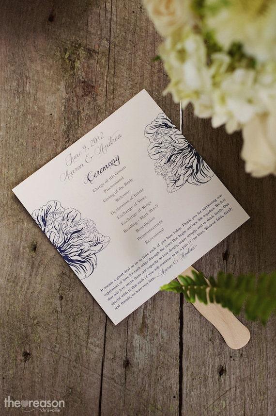 Printable Wedding Programs - Style P8 - PEONY COLLECTION