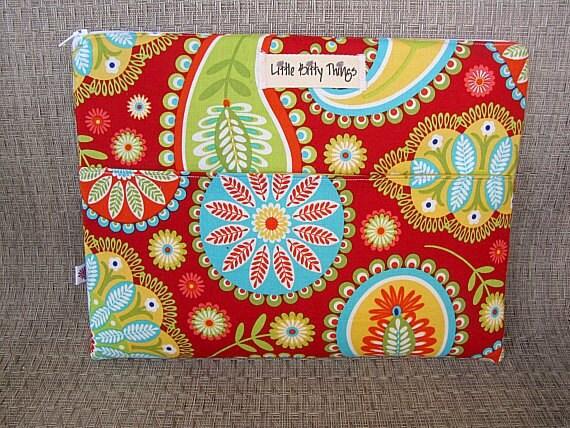 iPad Sleeve - Michael Miller Gypsy Bandana Red