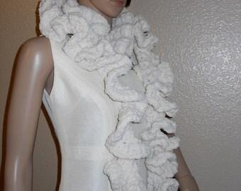 Ruffle Cream scarf