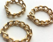 Delicate Gold Color Stackable Chain Rings