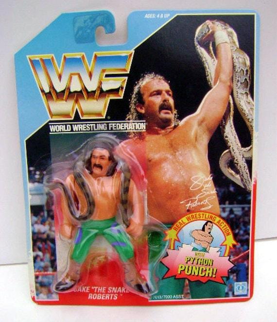 Retro WWF Jake The Snake Roberts 1990 Titan Sports Hasbro Figurine