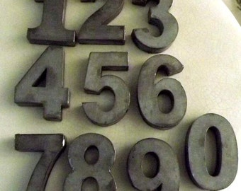 Zinc Metal Numbers 0 - 9