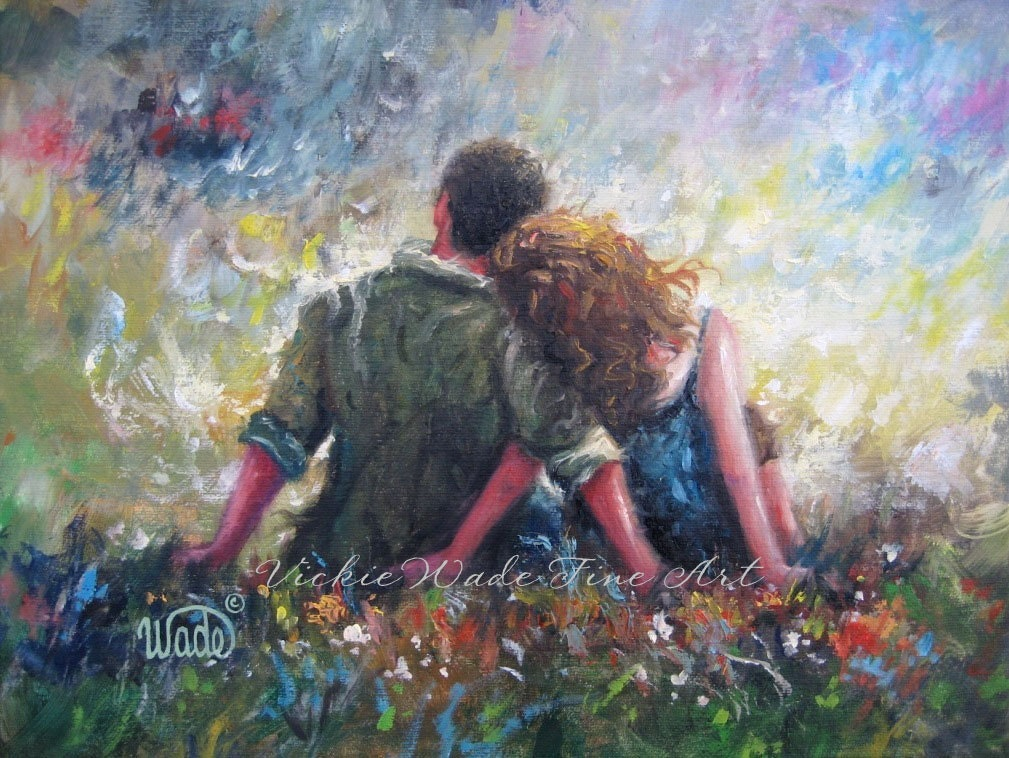Loving Couple Art Print Lovers Hugging