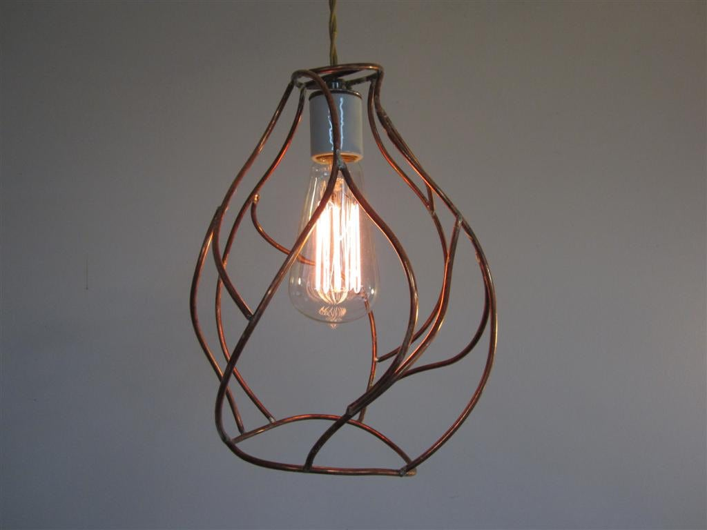 Bare Bulb Pendant Lamp Industrial Cage Lighting Artistic