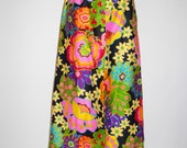 Vintage Bold and Beautiful Floral Print Maxi Skirt