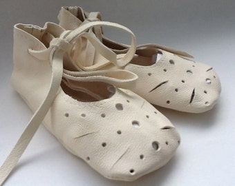 Ivory baby ballet shoes