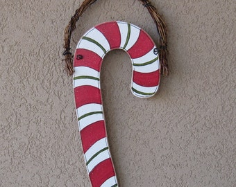 Hanging CANDY CANE for Christmas, door, and holiday decor
