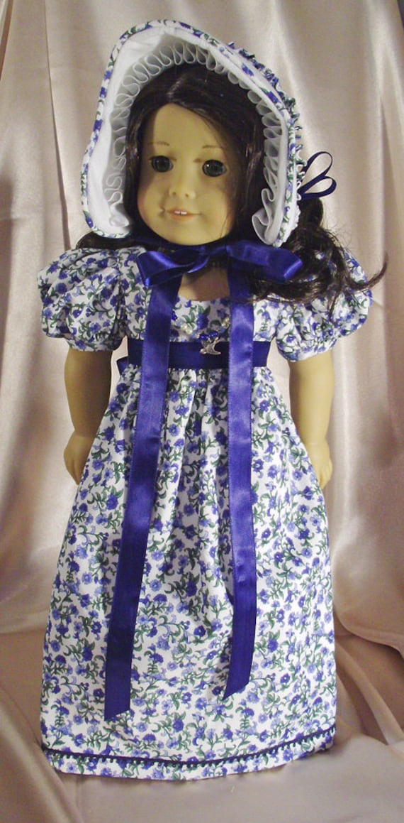 1790s Regency Jane Austen Historical Era Gown Ensemble for American Girls and Other 18 Inch Dolls
