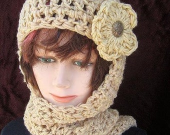 Free Knitting Pattern For Hat Scarf Combo : Popular items for hood hoodie on Etsy