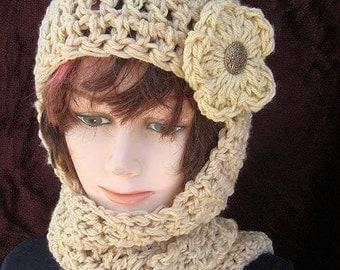 113, CROCHET PATTERN Hat scarf...hat scarf combo, Hood, hoodie, scoodie, women, ladies, teens, accessories, clothing, instant download