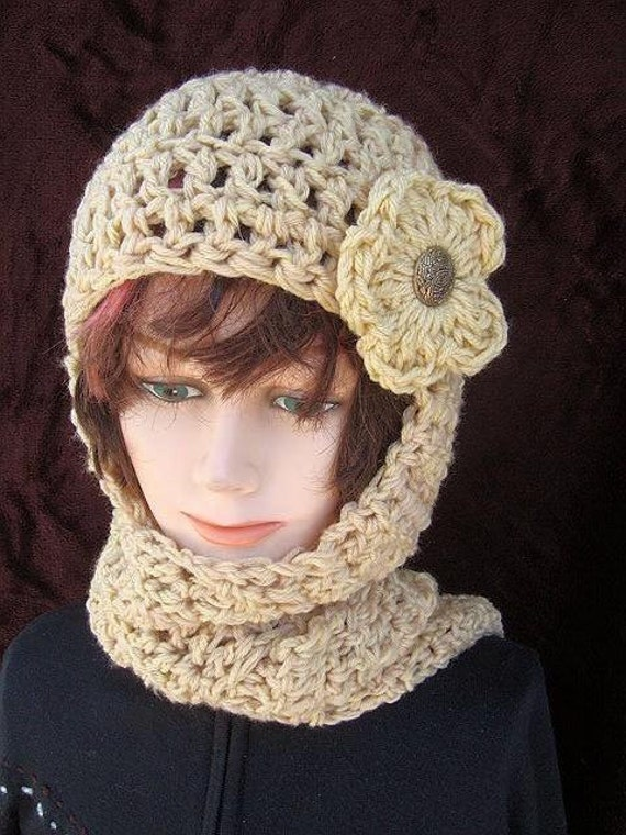 Items similar to 113, CROCHET PATTERN Hat scarf...hat ...