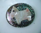 abalone scottie dog brooch