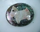 abalone scottie dog brooch
