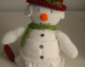 Hand Knitted Mrs Frosty the Snowman