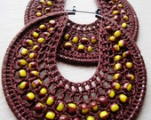 Crocheted hoops with beads Chocolate and Vanilla