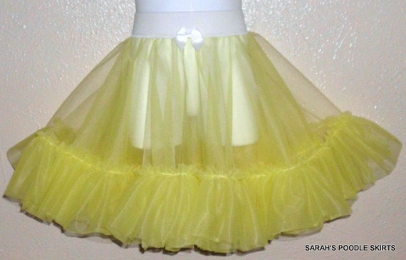 New Girls Ready To Ship Handmade Lemon Yellow 50's Dream Petticoat Slip SIze Small Perfect for your Poodle Skirt