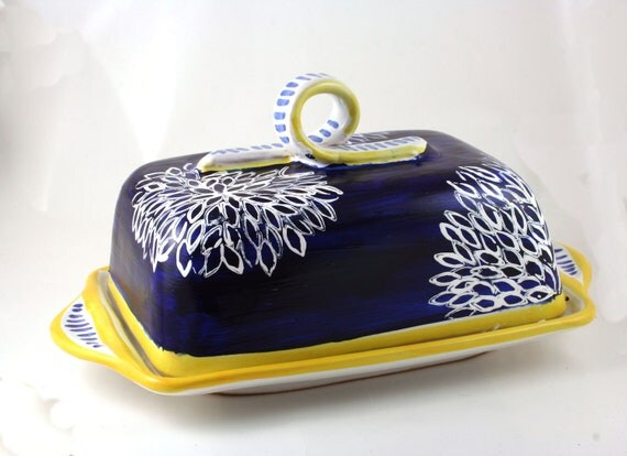 Butter dish - Hand painted