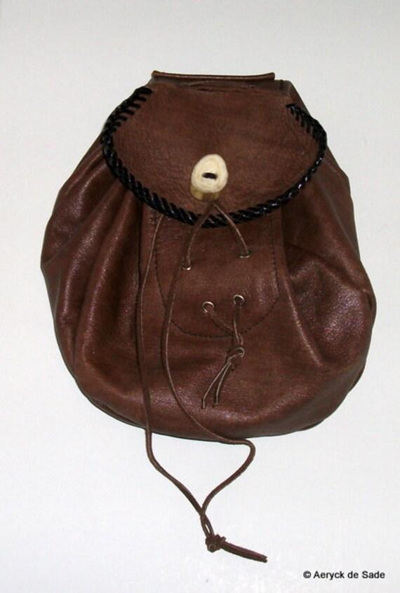 Genuine Leather Sporran Belt Pouch Bag SCA LARP Kilt wear Rob Roy Style reenactment costume authentic