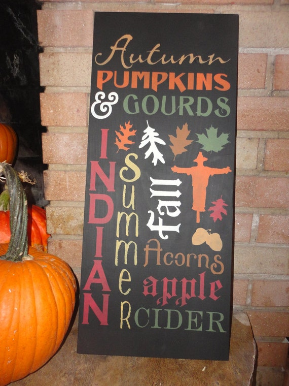 Fall Wood Sign/Autumn Decor/Home Decor/Decoration