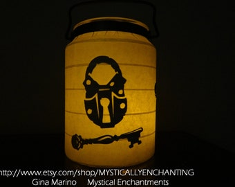 SALE Halloween Lantern Lock & Skeleton Key 360 degrees