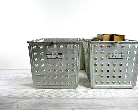 RESERVED - Vintage Metal Locker Basket / Industrial Storage