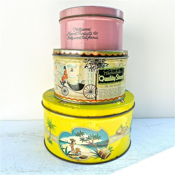 Vintage Tin Collection Amie de Peau, Mambos, Candy Tins