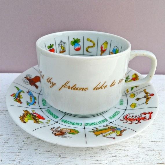 Vintage Fortune Telling Tea Cup - Tea Leaf Reading Teacup