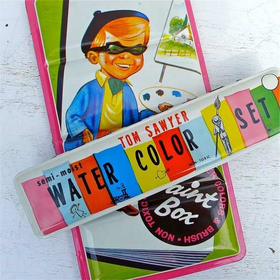 Vintage Child's Paint Set Tins Advertising