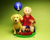 DEPOSIT - Personalized Custom Cute First Birthday Cake Topper