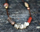 Vintage African beads necklace and Tibetan bell necklace for Rocio
