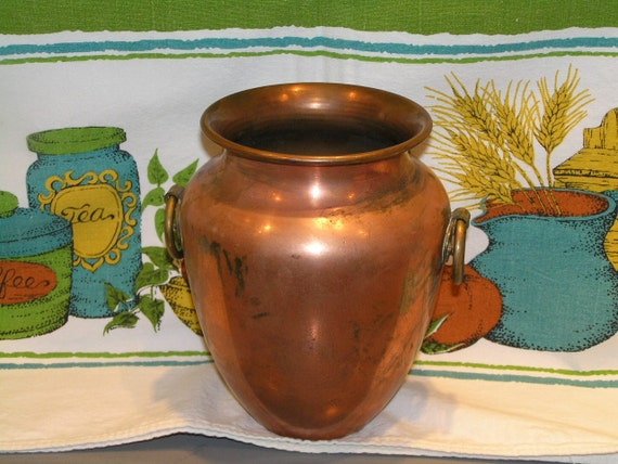 VINTAGE REVERE Ware Copper and Brass Vase Made in  Rome NY