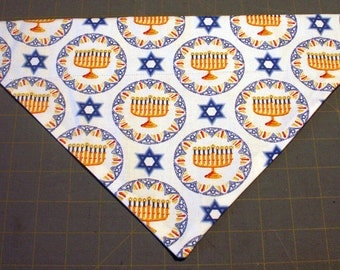 Dog Bandana Menorah, Star of David, Israel