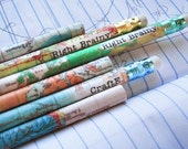 PERSONALIZED  Map Pencils for Travelers by Right Brainy - RightBrainy