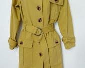 Vintage Yves Saint Laurent brushed cotton safari style jacket