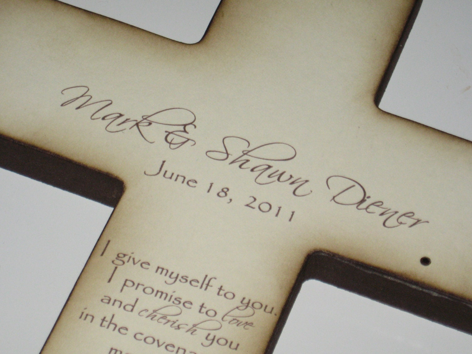 Personalized Christian Wedding Cross Gift by PolishedProductions