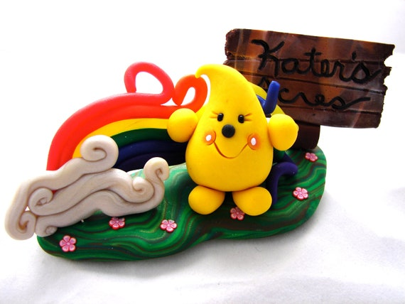 Parker's Story, StoryBook Scene Polymer Clay Figurine by KatersAcres