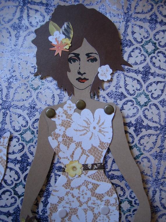 Mermaid Paper Doll 65 - Sun Bleached - RESERVED for J. Ferrari