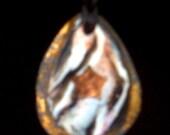 Handmade Mokume Gane Copper Star Necklace Pendant