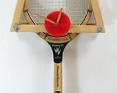 tennis racquet clock custom antique vintage sports decor home office novelty