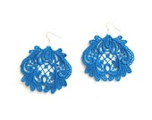 Cobalt Lace Earrings - Lucia