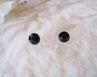 "Surgical Steel Post Earrings - ""Jet Black"" (Hypoallergenic Earrings for Sensitive Ears // Surgical Steel Stud Earrings)"
