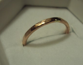 Jewelry, Ring, ROSE gold, 14k gold filled, engagment, wedding band, promise ring, hammered, set of 2
