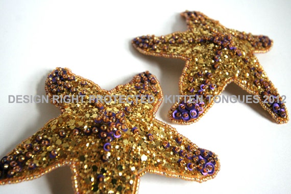 Starfish Pasties - Ready to Ship - Gold and Matte Purple