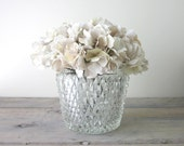 Pressed Glass Ice Bucket with Scalloped Edge