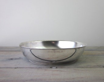 Shallow Silver Plate Bowl